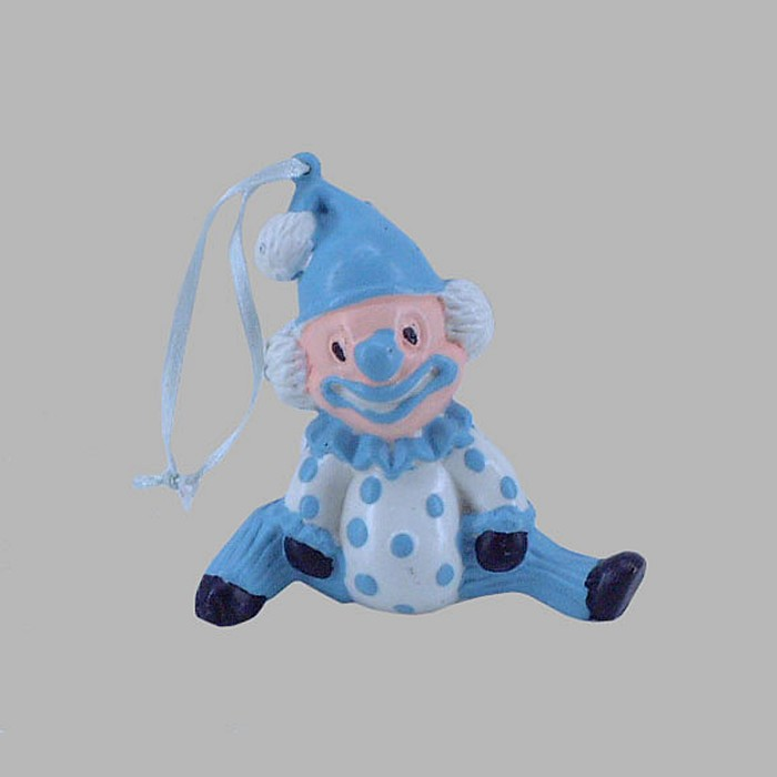 clown couleur bleu blanc 10 x 5 cm